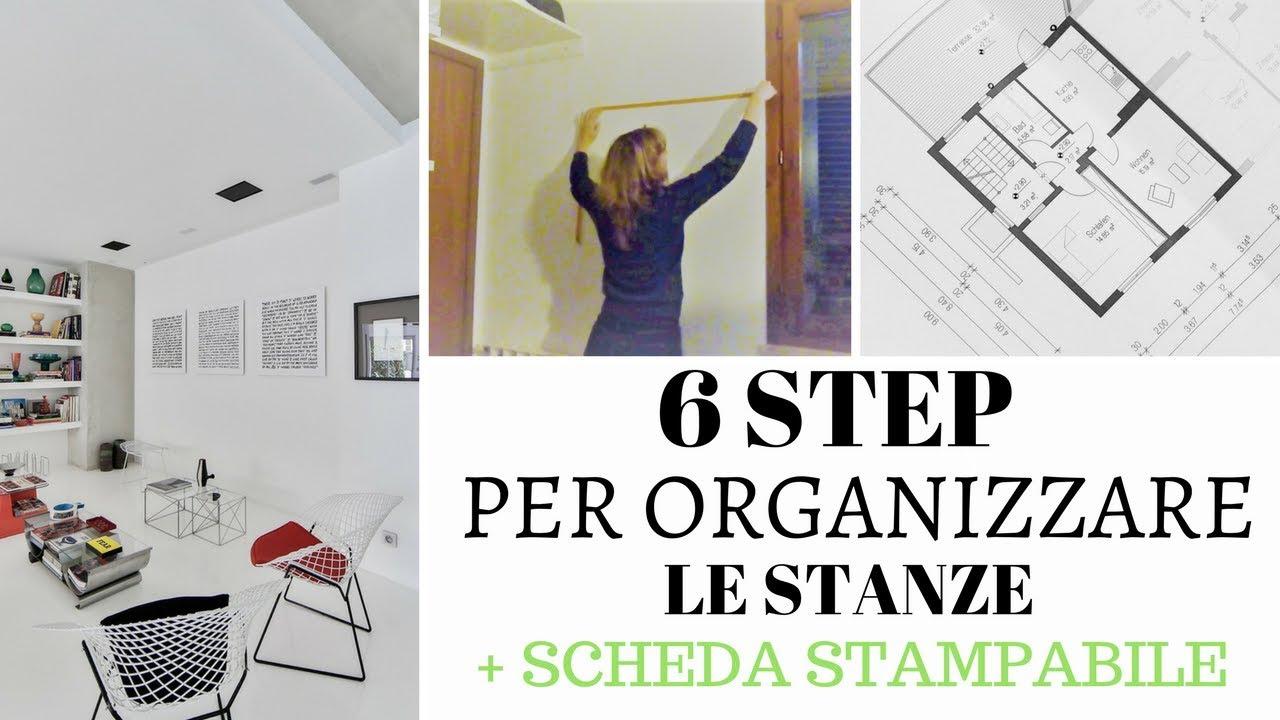 6 passi per organizzare le stanze + Scheda stampabile
