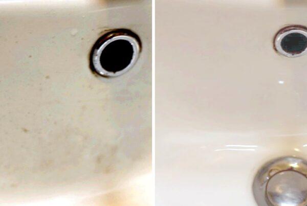 Elimina le macchie dai sanitari in pochi secondi e senza detergenti